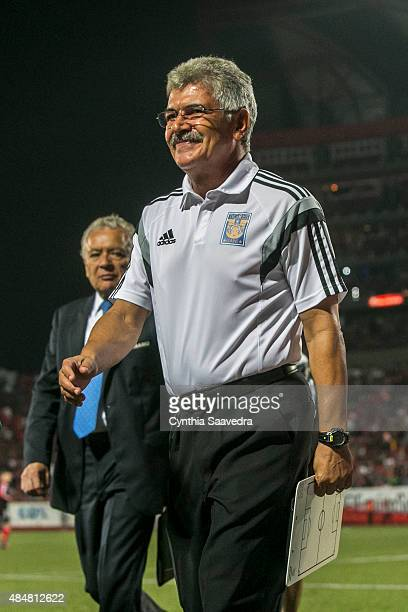 Ricardo Ferretti coach of Tigres UANL leaves the field after a 6th round match between Tijuana and Tigres UANL as part of the Apertura 2015 Liga MX...