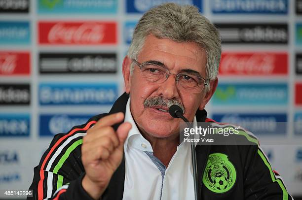 Ricardo Ferretti head coach of Mexico speaks during a press conference to unveil him as new coach of Mexico's national soccer team at Alto...
