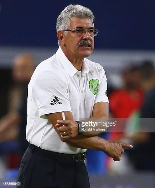 Ricardo Ferretti of Mexico at ATT Stadium on September 8 2015 in Arlington Texas