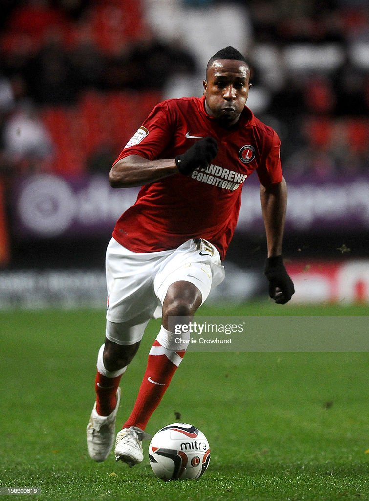 <a gi-track='captionPersonalityLinkClicked' href=/galleries/search?phrase=Ricardo+Fuller&family=editorial&specificpeople=240619 ng-click='$event.stopPropagation()'>Ricardo Fuller</a> of Charlton during the npower Championship match between Charlton Athletic and Huddersfield Town at The Valley on November 24, 2012 in London, England.