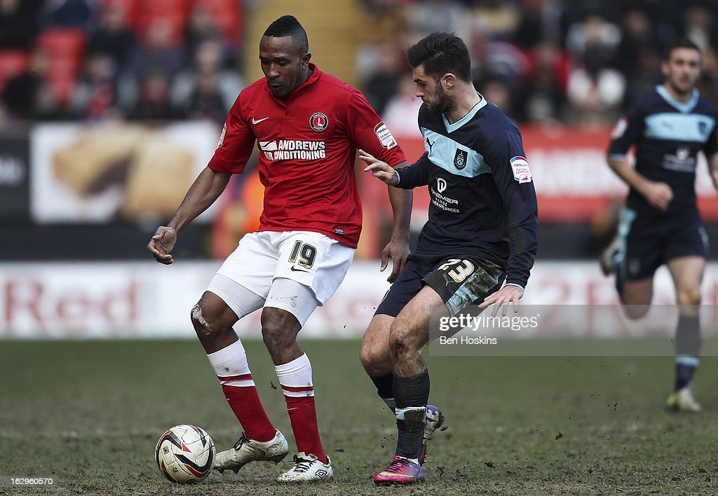 <a gi-track='captionPersonalityLinkClicked' href=/galleries/search?phrase=Ricardo+Fuller&family=editorial&specificpeople=240619 ng-click='$event.stopPropagation()'>Ricardo Fuller</a> of Charlton holds off pressure from Charlie Austin of Burnley during the npower Championship match between Charlton Athletic and Burnley at the Valley on March 02, 2013 in London, England.