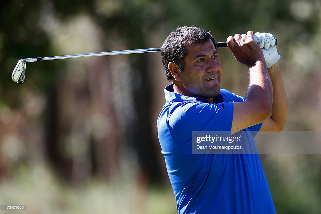 <a gi-track='captionPersonalityLinkClicked' href=/galleries/search?phrase=Ricardo+Gonzalez&family=editorial&specificpeople=240556 ng-click='$event.stopPropagation()'>Ricardo Gonzalez</a> of Argentina hits his second shot on the 7th hole during Day 2 of the Open de Espana held at Real Club de Golf el Prat on May 15, 2015 in Barcelona, Spain.