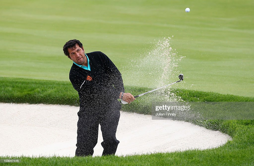 <a gi-track='captionPersonalityLinkClicked' href=/galleries/search?phrase=Ricardo+Gonzalez&family=editorial&specificpeople=240556 ng-click='$event.stopPropagation()'>Ricardo Gonzalez</a> of Argentina plays out of a bunker during round two for the Nordea Scandinavian Masters at Bro Hof Slott Golf Course on July 23, 2010 in Stockholm, Sweden.