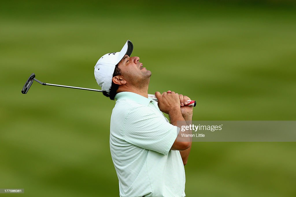 <a gi-track='captionPersonalityLinkClicked' href=/galleries/search?phrase=Ricardo+Gonzalez&family=editorial&specificpeople=240556 ng-click='$event.stopPropagation()'>Ricardo Gonzalez</a> of Argentina reacts to a missed birdie putt on the 18th green during the third round of the Johnnie Walker Championship at Gleneagles on August 24, 2013 in Auchterarder, Scotland.