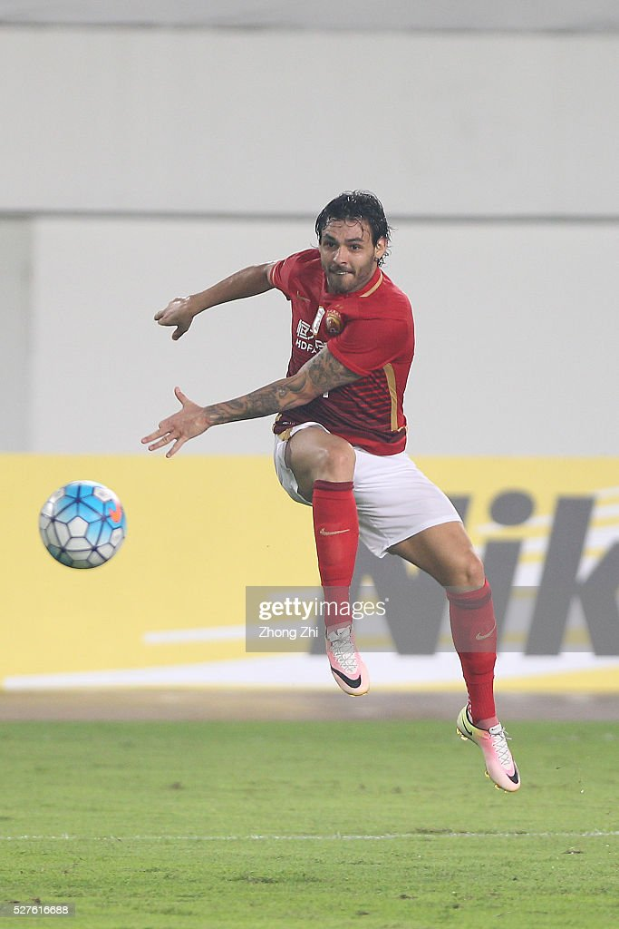 Ricardo Goulart of Guangzhou Evergrande during the AFC Asian Champions League match between Guangzhou Evergrande FC and Sydney FC at Tianhe Stadium on May 3, 2016 in Guangzhou, China.