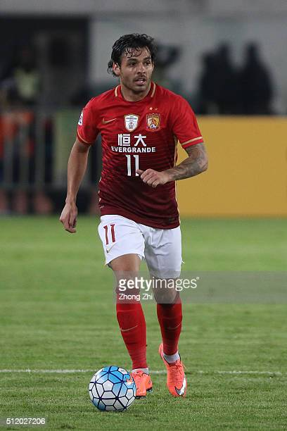 Ricardo Goulart of Guangzhou Evergrande in action during AFC Champions League Group H match between Guangzhou Evergrande FC and Pohang Steelers at...
