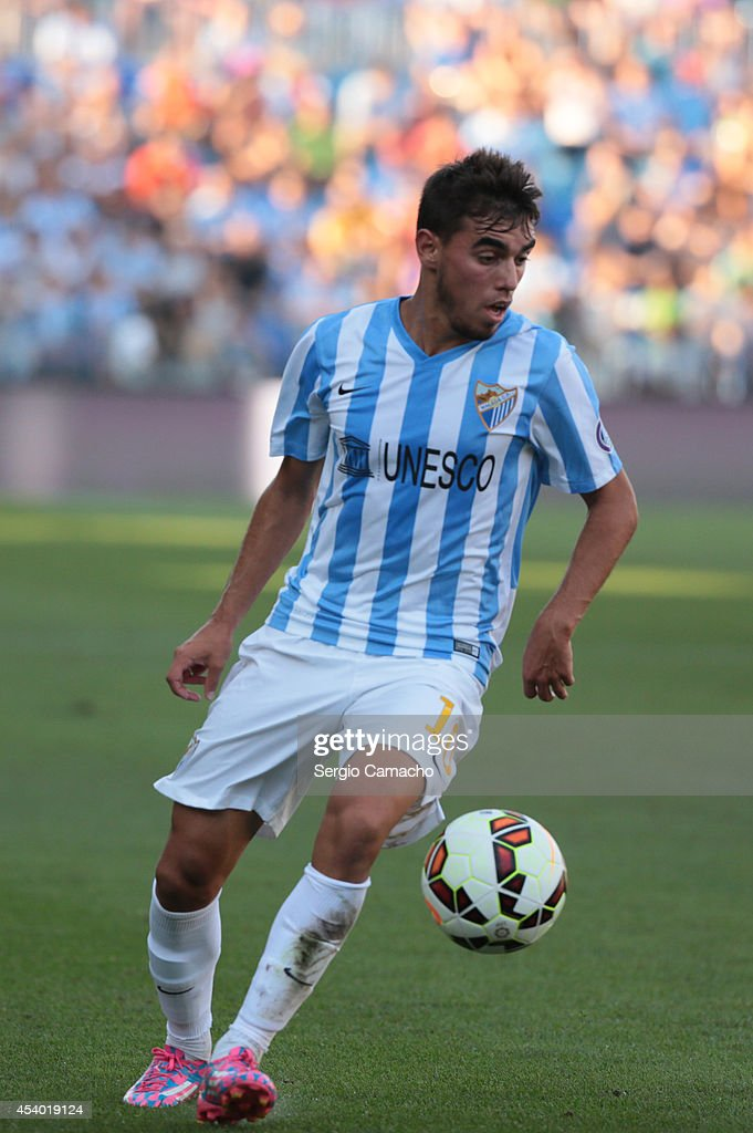 Ê Ricardo Horta of Malaga CF runs whit the ball during the La Liga match between Malaga CF and Athletic Club Bilbao at La Rosaleda Stadium on August 23, 2014 in Malaga, Spain.Ê