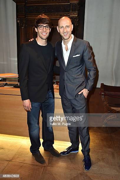 Ricardo Kaka and Tim Sayler Audemars Piguet Marketing Director attend the Audemars Piguet Royal Oak Offshore exibition as part of Untold event at...