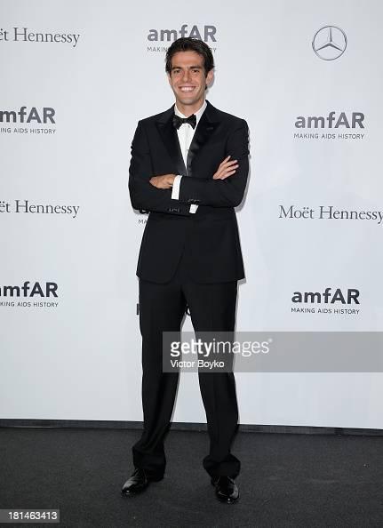 Ricardo Kaka attends the amfAR Milano 2013 Gala as part of Milan Fashion Week Womenswear Spring/Summer 2014 at La Permanente on September 21 2013 in...