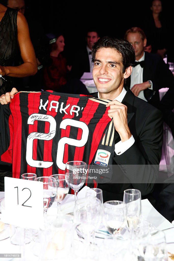 Ricardo Kaka attends the amfAR Milano 2013 Gala Dinner as part of Milan Fashion Week Womenswear Spring/Summer 2014 at La Permanente on September 21...