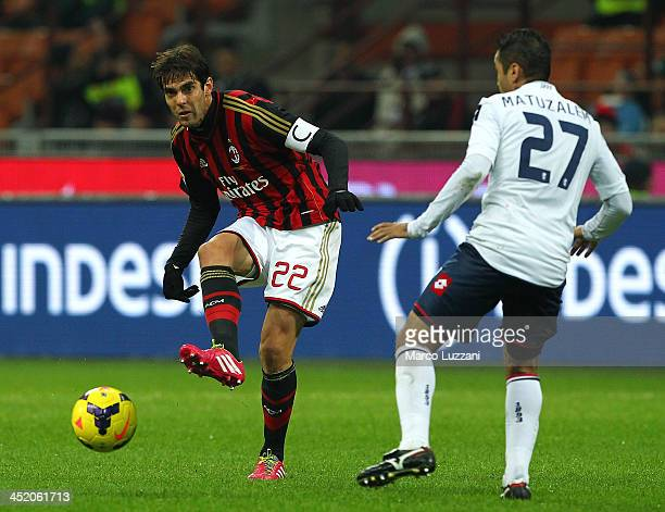 Ricardo Kaka of AC Milan in action during the Serie A match between AC Milan and Genoa CFC at Stadio Giuseppe Meazza on November 23 2013 in Milan...