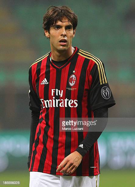 Ricardo Kaka of AC Milan looks on during the Serie A match between AC Milan and Udinese Calcio at Giuseppe Meazza Stadium on October 19 2013 in Milan...
