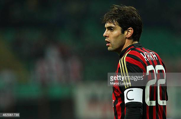Ricardo Kaka of AC Milan looks on during the Serie A match between AC Milan and Genoa CFC at Stadio Giuseppe Meazza on November 23 2013 in Milan Italy