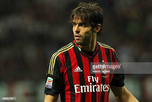 Ricardo Kaka of AC Milan looks on during the Serie A match between AC Milan and FC Internazionale Milano at Stadio Giuseppe Meazza on May 4 2014 in...