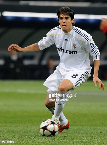 Ricardo Kaka of Real Madrid in action during the UEFA Champions League group C match between AC Milan and Real Madrid at the Stadio Giuseppe Meazza...