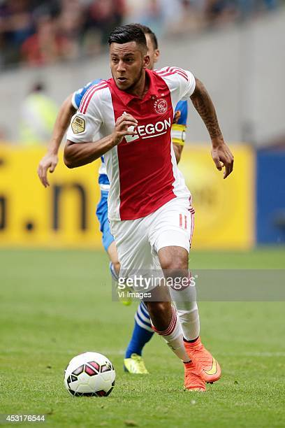 Ricardo Kishna of Ajax during the Johan Cruijff shield match between Ajax Amsterdam and PEC Zwolle on August 3 2014 at the Amsterdam Arena in...