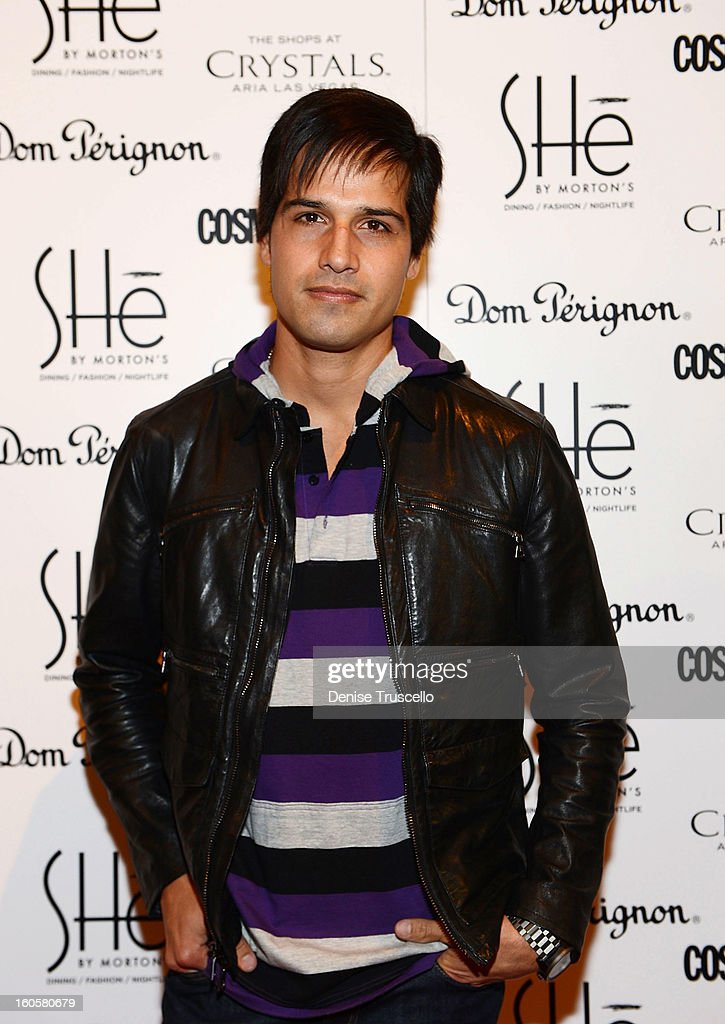 <a gi-track='captionPersonalityLinkClicked' href=/galleries/search?phrase=Ricardo+Laguna&family=editorial&specificpeople=5918597 ng-click='$event.stopPropagation()'>Ricardo Laguna</a> arrives at the grand opening of SHe by Morton's at Crystals at CityCenter on February 2, 2013 in Las Vegas, Nevada.