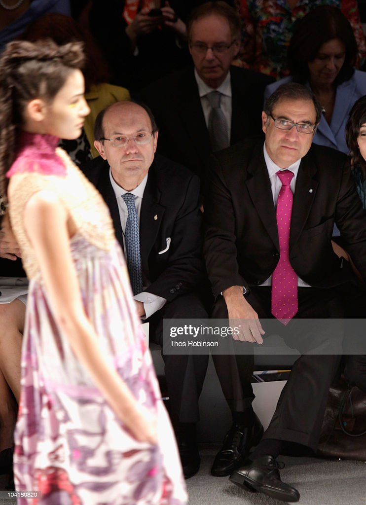 Ricardo Larriera and Jorge Arguello attend the Argentina Group Show Spring 2011 fashion show during Mercedes-Benz Fashion Week at The Stage at Lincoln Center on September 16, 2010 in New York City.