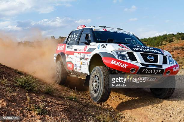 Ricardo Leal Dos Santos Maykel Justo / Nissan Navara during Baja Aragon World Cross Country Rally event celebrated in Teruel Aragón Spain on 2224...