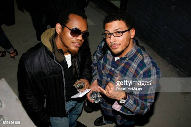 Ricardo Louis and Jacob Miles attend BUCKLER F/W '09 Collection Presentation at Buckler on February 14 2009 in New York City