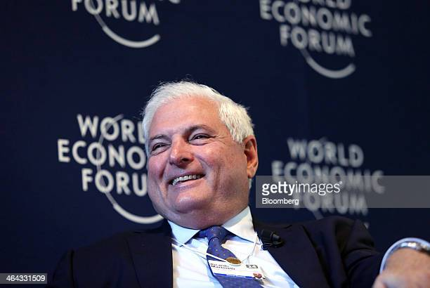 Ricardo Martinelli Panama's president pauses during a session on the opening day of the World Economic Forum in Davos Switzerland on Wednesday Jan 22...