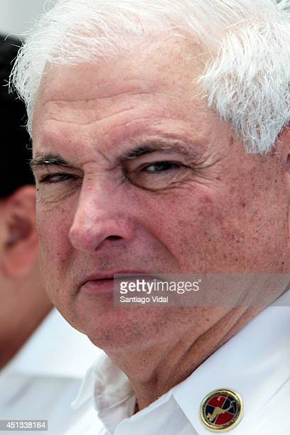 Ricardo Martinelli President of Panama looks on during the XLIII Ordinary Summit of Central American Integration System on June 27 2014 in Punta Cana...