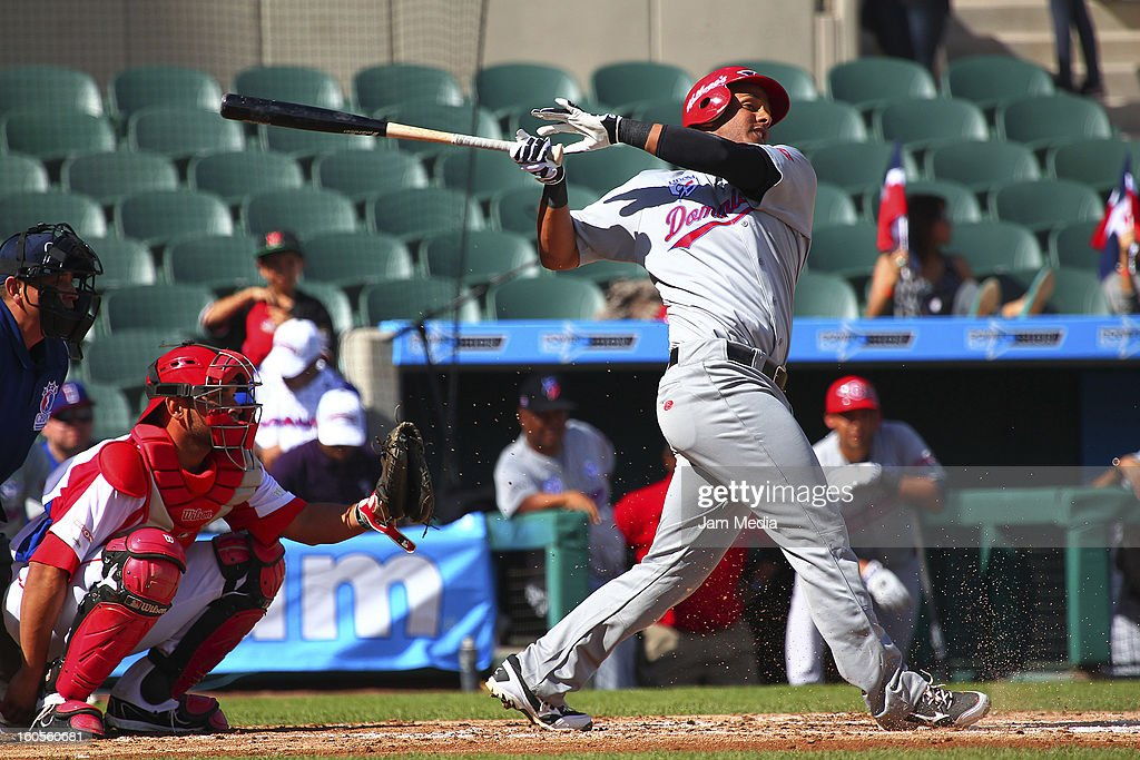 Ricardo Nanita of Republica Dominicana during the Caribbean Series Baseball 2013 in Sonora Stadium on february 2, 2013 in Hermosillo, Mexico.
