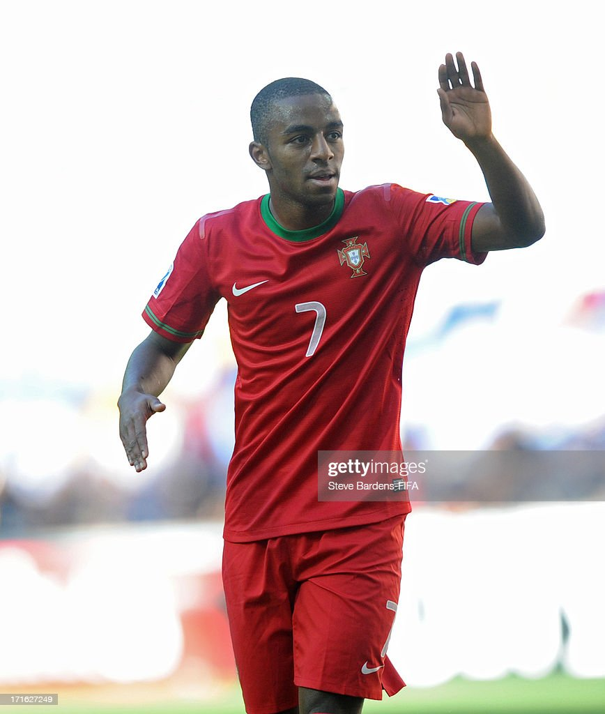 Ricardo of Portugal celebrates scoring the opening goal during the FIFA U20 World Cup Group B match between Portugal and Cuba at Kadir Has Stadium on...