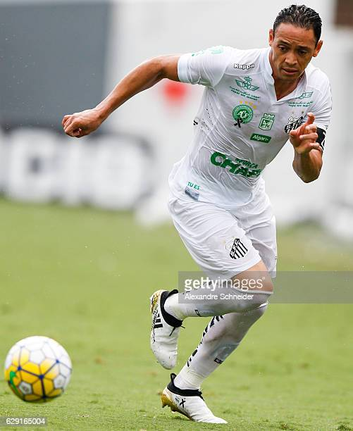 Ricardo Oliveira of Santos in action during the match between Santos and America MG for the Brazilian Series A 2016 at Vila Belmiro stadium on...