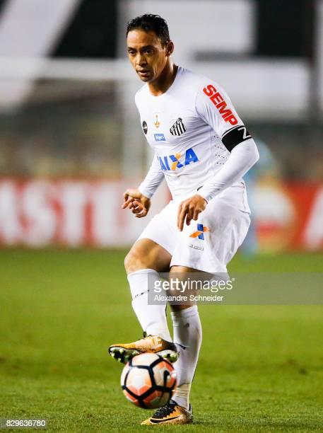 Ricardo Oliveira of Santos in action during the match between Santos and Atletico PR for the Copa Bridgestone Libertadores 2017 at Vila Belmiro...