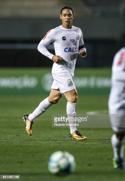 Ricardo Oliveira of Santos in action during the match between Santos and Fluminense as a part of Campeonato Brasileiro 2017 at Pacaembu Stadium on...
