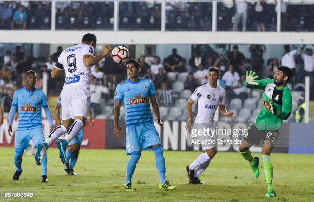 Ricardo Oliveira of Santos of Brazil in action during the match between Santos and Sporting Cristal for the Copa Bridgestone Libertadores 2017 at...