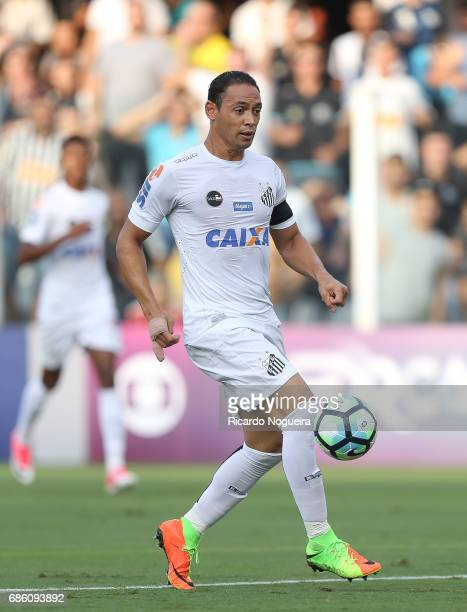 Ricardo Oliveira of Santos on the ball during a match between Santos and Coritiba as a part of Campeonato Brasileiro 2017 at Vila Belmiro Stadium on...