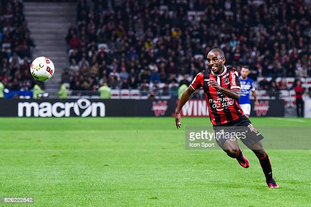 Ricardo Pereira of Nice and Pierre Bengtsson of Bastia during the French Ligue 1 match between Nice and Bastia at Allianz Riviera on November 27 2016...
