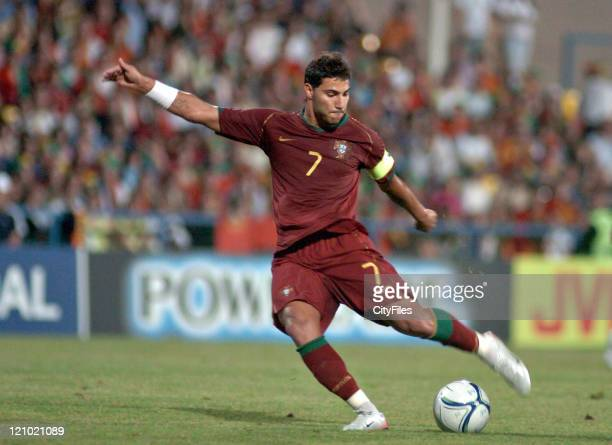 Ricardo Quaresm of Portugal during 2006 UEFA European Under 21 Championship Group A match between Portugal and Serbia and Montenegro in Barcelos...
