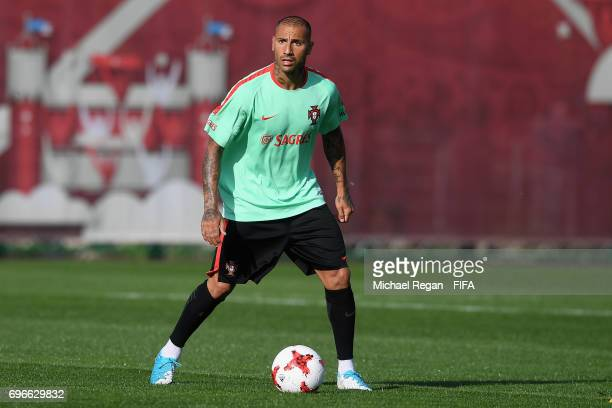 Ricardo Quaresma in action during the Portugal training session on June 16 2017 in Kazan Russia