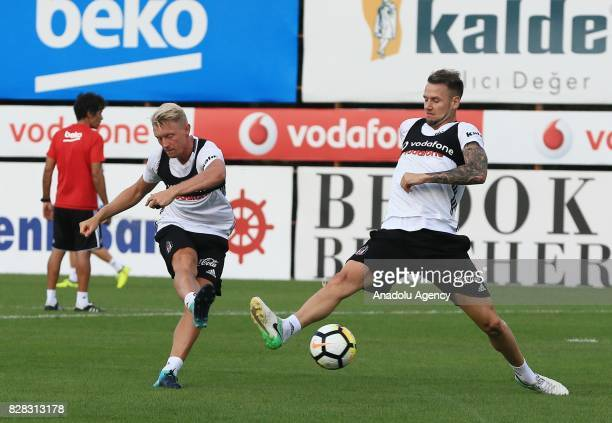Ricardo Quaresma of Besiktas attends a training session ahead of the Turkish Spor Toto Super Lig new season match between Besiktas and Antalyaspor at...