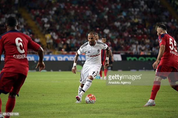 Ricardo Quaresma of Besiktas in action during the Turkish Spor Toto Super League football match between Mersin Idmanyurdu and Besiktas at Mersin...