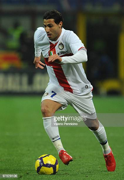 Ricardo Quaresma of FC Internazionale Milano in action during the Serie A match between FC Internazionale Milano and Genoa CFC at Stadio Giuseppe...