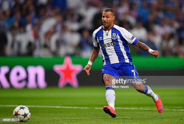 Ricardo Quaresma of FC Porto scores their second goal during the UEFA Champions League Quarter Final first leg match between FC Porto and FC Bayern...