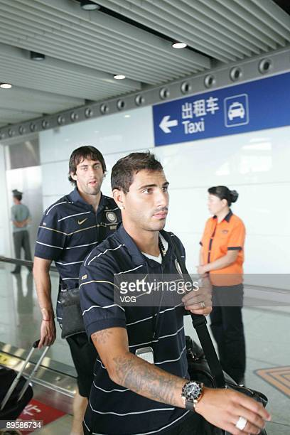 Ricardo Quaresma of Inter Milan arrives at Beijing Capital International Airport on August 4 2009 in Beijing China