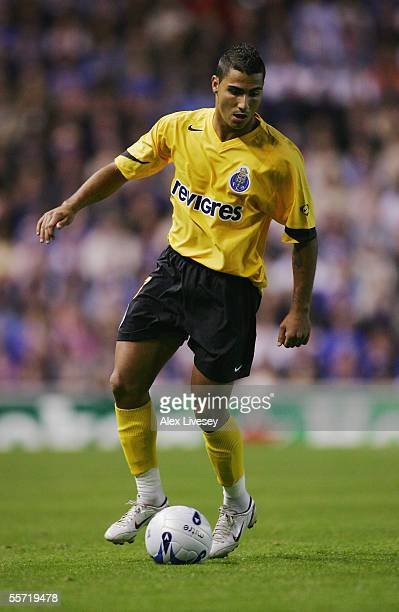 Ricardo Quaresma of Porto in action during the UEFA Champions League Group H match between Rangers and FC Porto at Ibrox on September 13 2005 in...