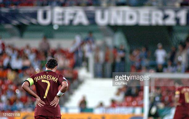 Ricardo Quaresma of Portugal during 2006 UEFA European Under 21 Championship Group A match between Portugal and Serbia and Montenegro in Barcelos...
