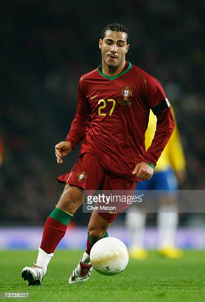 Ricardo Quaresma of Portugal in action during the International friendly match between Brazil and Portugal at the Emirates Stadium on February 6 2006...