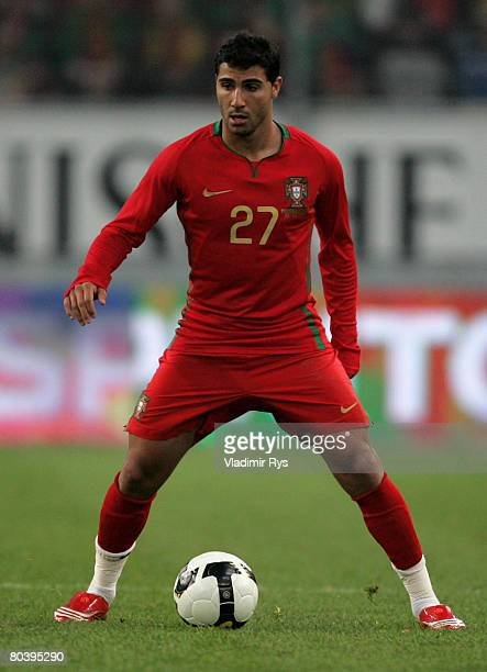 Ricardo Quaresma of Portugal in action during the international friendly match between Portugal and Greece at the LTU Arena on March 26 2008 in...
