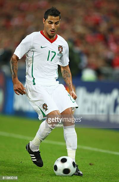Ricardo Quaresma of Portugal in action during the UEFA EURO 2008 Group A match between Switzerland and Portugal at St JakobPark on June 15 2008 in...