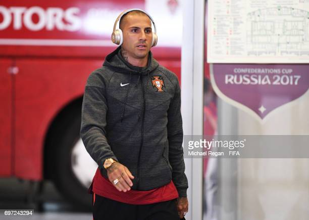 Ricardo Quaresma of Portugal is seen on arrival at the stadium prior to the FIFA Confederations Cup Russia 2017 Group A match between Portugal and...