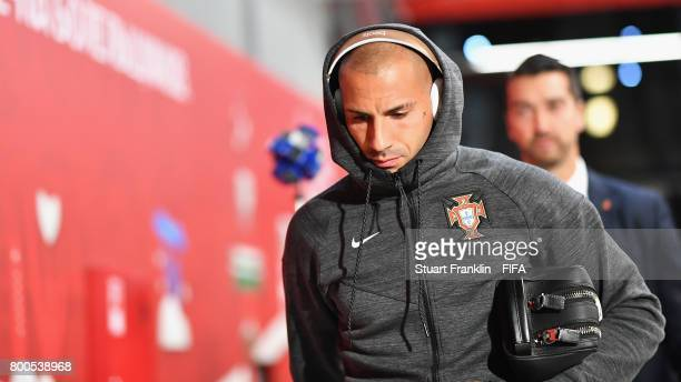 Ricardo Quaresma of Portugal is seen on arrival at the stadium prior to the FIFA Confederations Cup Russia 2017 Group A match between New Zealand and...