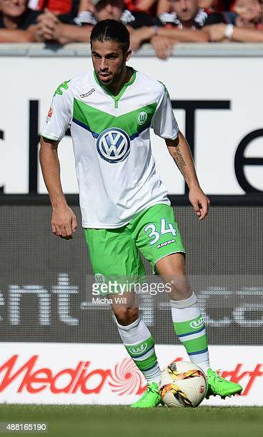 Ricardo Rodrguez of Wolfsburg controls the ball during the Bundesliga match between FC Ingolstadt and VfL Wolfsburg at Audi Sportpark on September 12...