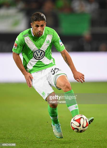 Ricardo Rodríguez of Wolfsburg in action during the Bundesliga match between VfL Wolfsburg and Werder Bremen at Volkswagen Arena on September 27 2014...